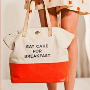 Kate spade eat cake call to action tote